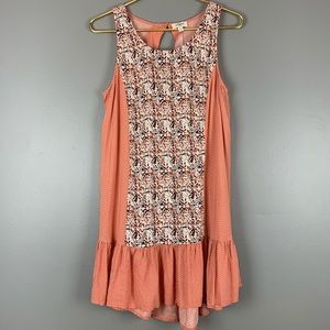 UMGEE orange print sleeveless dress NWOT, M